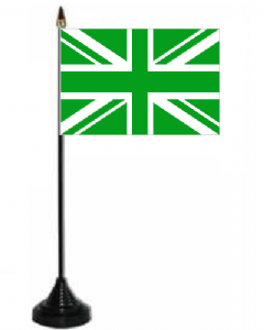Great Britain Green Desk / Table Flag with plastic stand and base.